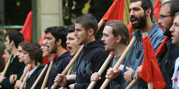 Studenten-Demo in Athen